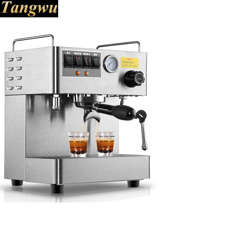 Full - semiautomatic commercial espresso machine small and high pressure double boiler pump beverageFull - semiautomatic commercial espresso machine small and high pressure double boiler pump beverage