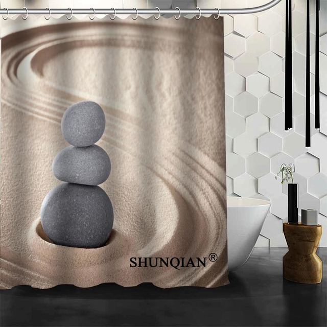 Best Nice Custom Zen Stones Shower Curtain Bath Waterproof Fabric Bathroom MORE SIZE A6