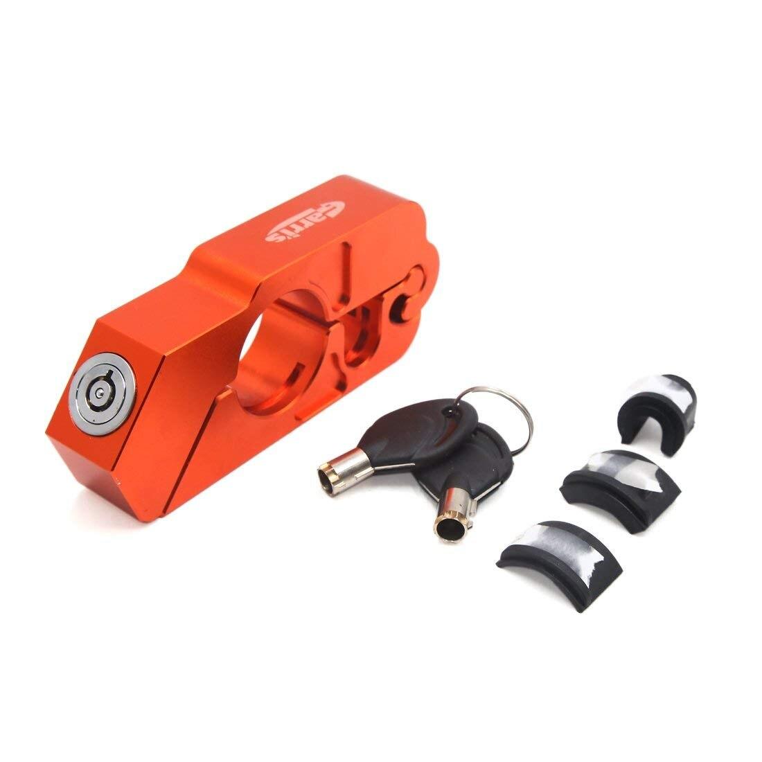 Uxcell levier de frein universel Orange pour guidon de moto Anti-vol