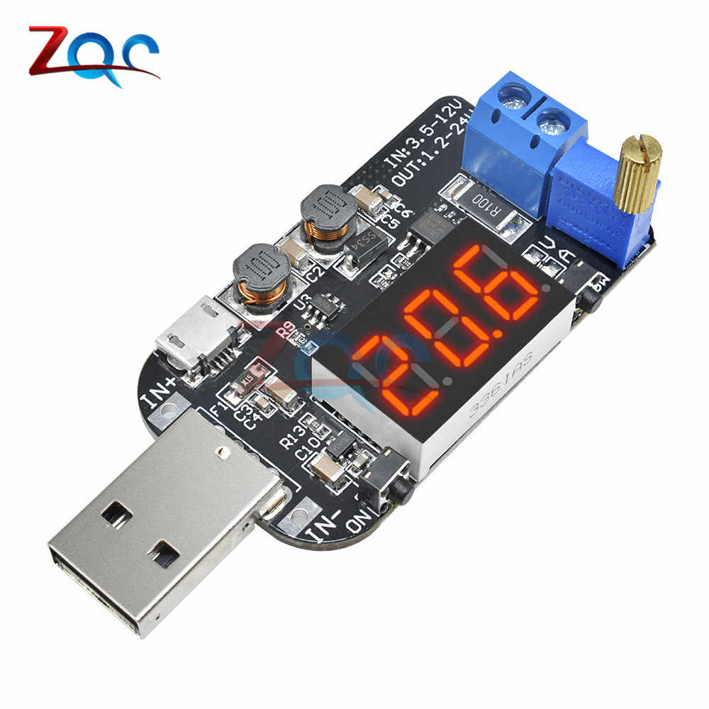 DC-DC CVCC 15W 5V om 1V 9V 12V 24V Verstelbare Step UP step Down voeding Module Boost Buck Voltage regulator Converter