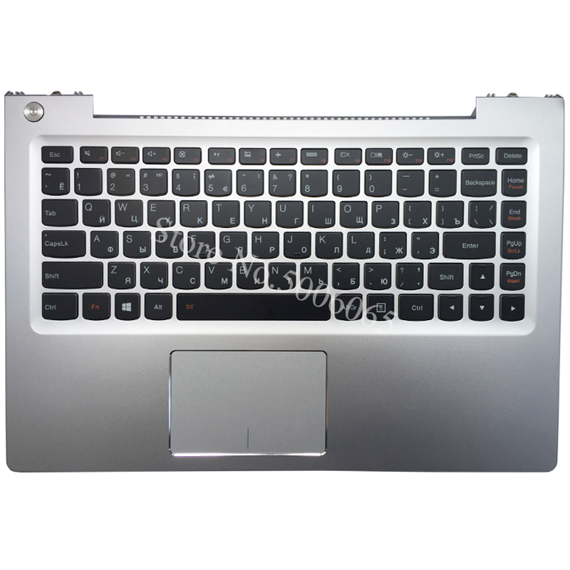 NEW RU laptop keyboard For Lenovo U330p U330 Russian keyboard with silver case Palmrest Touchpad