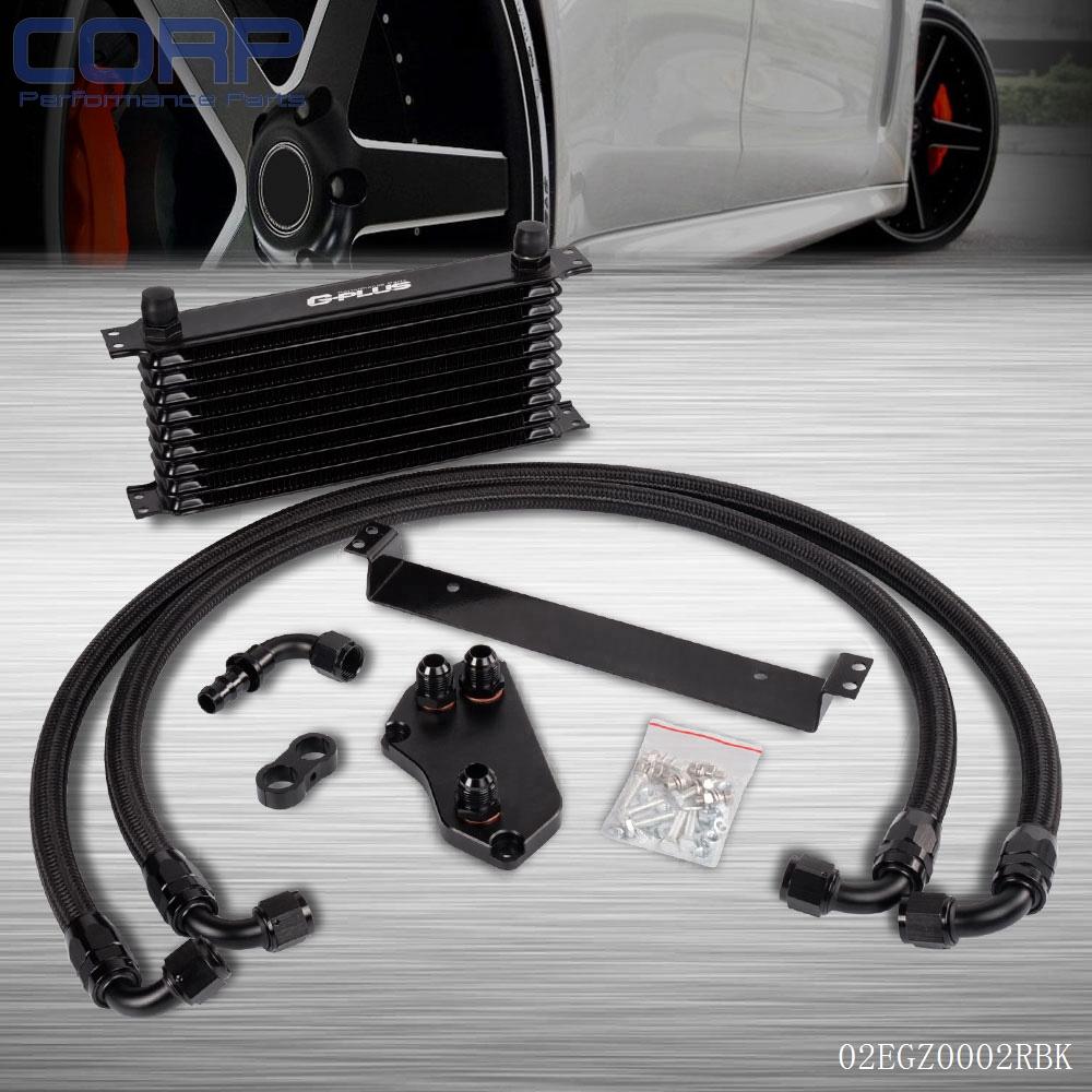 10Row Oil Cooler Kit For BMW F30 F35/N20 316 320 N13 F31 F34 328 Turbo AN10 BK epman universal 10 row oil cooler kit with oil filter relocation kit for turbo race ep ok1012