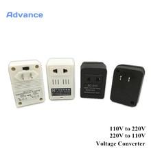 Modo de Conversor V e 120 para 220 de Voltagem 2 AC 100 V 110 V e 240 Transformador Eua-ue Adaptador Conversor Energia Levou Escova Dentes Eletrônico CLO