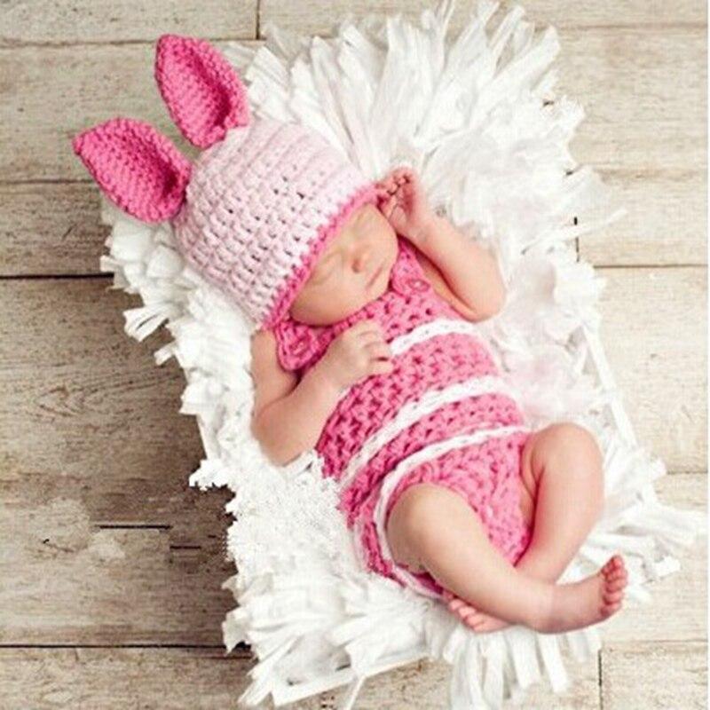 ᗔConejo lindo sombrero Bebe hecho a mano recién nacido ganchillo ...