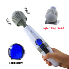 Luoge Big AV Stick Vibrators LCD Display Touch Magic Wand Vibrator Magic Wand Massager Rechargeable Vibrators Sex Toys for Women authentic 2015 hitachi magic wand original rechargeable with free $100 value premium antibacterial cleaner