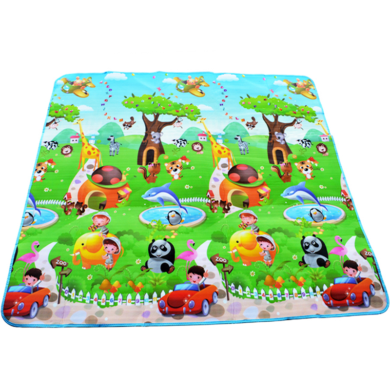 Baby Crawling Play Mat 2*1.8 Meter Climb Pad Double-Side Fruit Letters And Happy Farm Baby Toys Playmat Kids Carpet Baby Game