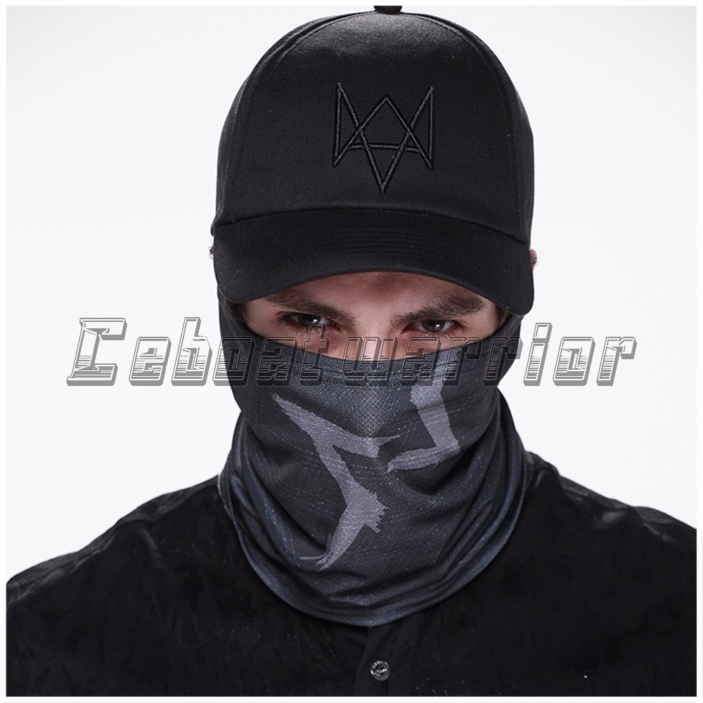 Watch Dogs Aiden Pearce маска для лица грелка шеи видео игра шарф для косплея костюм маска