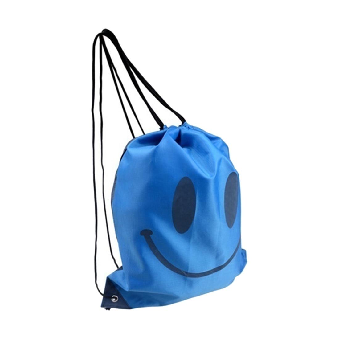 Smile  backpack  Drawstring Waterproof bag