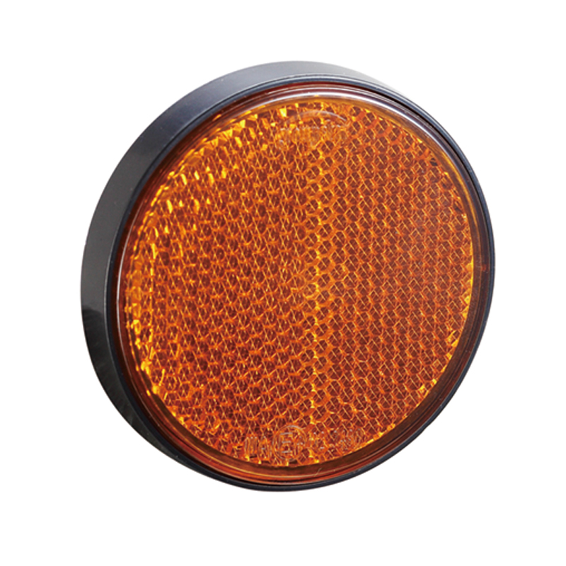 Image 2 - AOHEWE   amber round reflector self adhesive E CE Approval for trailer truck lorry bus RV position light-in Reflective Strips from Automobiles & Motorcycles