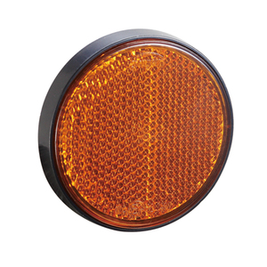 Image 2 - AOHEWE   amber round reflector self adhesive E CE Approval for trailer truck lorry bus RV position light