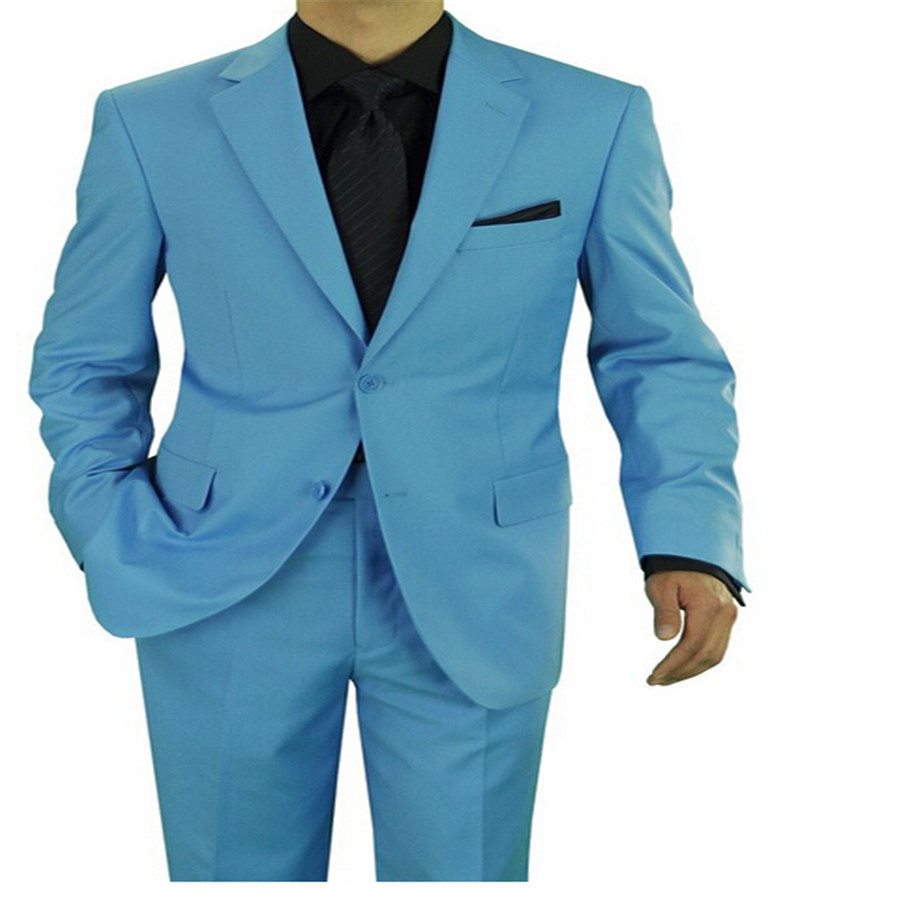Men suit, blue color of the two buttons leisure fashion new fund ...