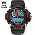 SMAEL New Arrival s-shock mens military watch sport watch LED Digit quartz Chronograph jelly silicone swim watch Brand