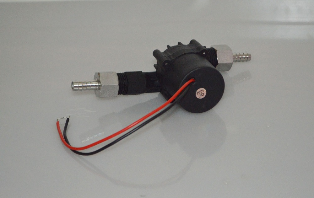 """homebrew pump DC12V&20W BSP1/2"""" Food grade pump hot water circulation brewing water pump no noise with 1/2 inch barb fitting"""