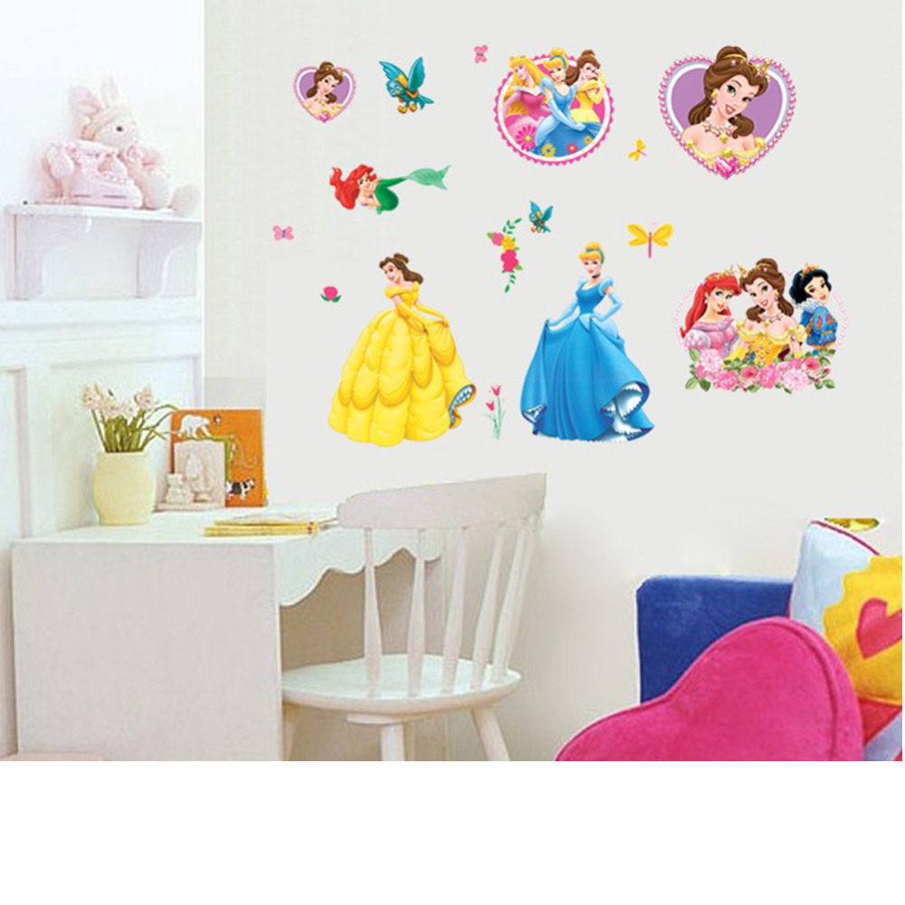 disney princess sticker wall decal or iron on transfer tshirt disney princess wall sticker poster vinyl art removable sticker for living room bedroom
