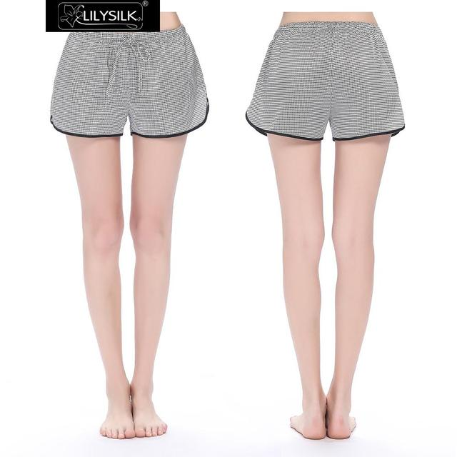 Shorts Mujeres Dormir 100% de Seda Pura 19 momme Lilysilk Golondrina Ciñe Ropa de Verano Caliente Pijamas Pantalones de Mujer Femenina Elegante