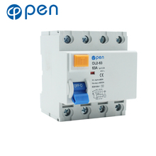 RCCB 4P 63A 300mA  AC Type Residual Current Circuit Breaker for Leakage and Short Circuit Protection dz47le residual current circuit breaker with surge protector rcbo small mcb rccb with lightning protection spd