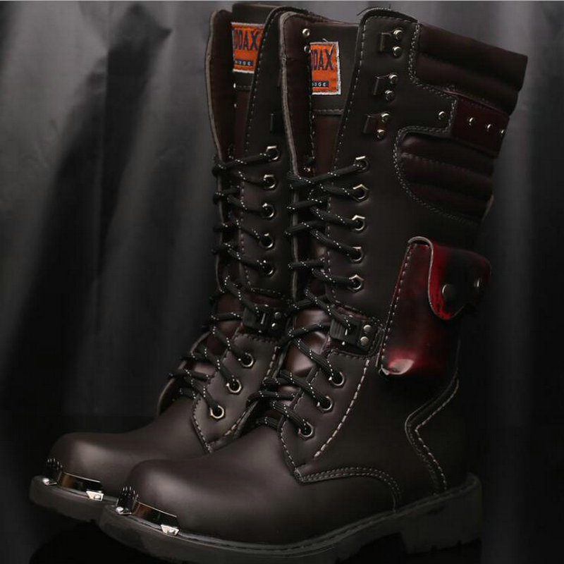Motorcycle Boots Men Riding Boots Racing Motocross Boots Off-Road Motorbike Riding Moto Boots army military Shoes OO-81
