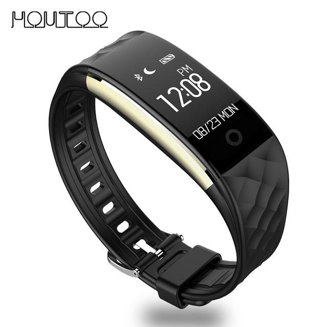 En stock original s2 pulsera touchpad inteligente de ritmo cardíaco de gimnasio rastreador oled pk xiaomi mi banda 2 miband band2