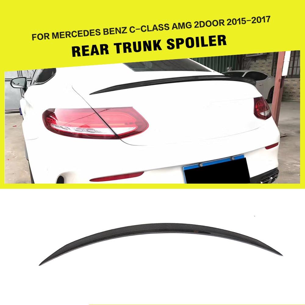 Carbon Fiber / FRP Black Car Racing Rear Trunk Spoiler Wing for Mercedes Benz C-Class W205 C63 AMG Coupe 2-Door 2015 - 2017Carbon Fiber / FRP Black Car Racing Rear Trunk Spoiler Wing for Mercedes Benz C-Class W205 C63 AMG Coupe 2-Door 2015 - 2017