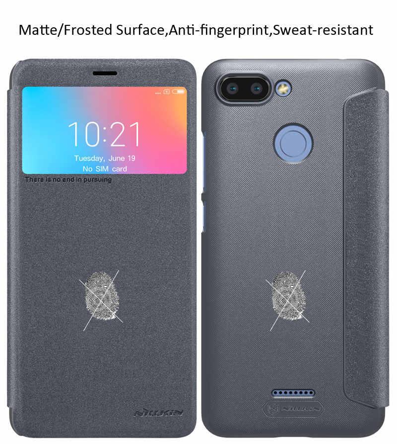 release date 6ce28 95a93 Nillkin Sparkle PU Leather Case For Xiaomi Redmi 6 Pro Mi A2 Lite 6A Flip  Cover Wallet Book