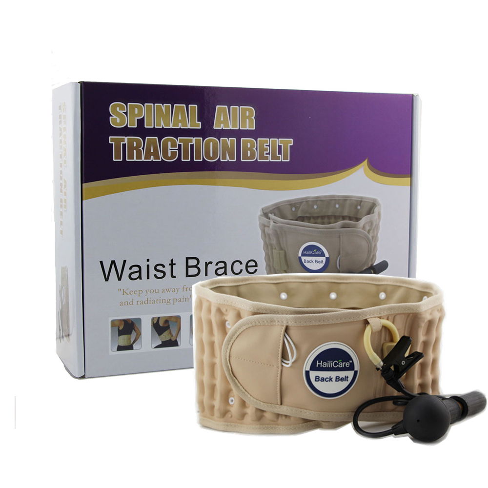 Health Brace Support Belt Care Physio Decompression Back Relief Waist Lumbar Traction Backache Pain Parent Bone Care Tool hailicare back relief belt waist brace support belt lumbar traction backach waist brace pain release health massager health care