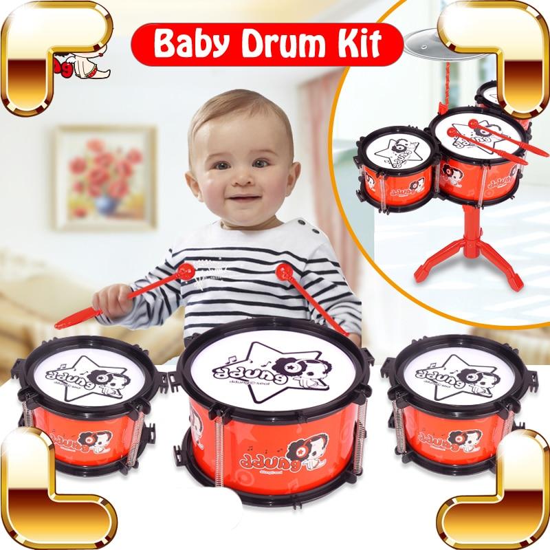 Nouvelle arrivée cadeau bébé Kits de batterie petit Instrument de musique jouets tambours ensemble éducation jeu d'apprentissage enfants formation musicale présent