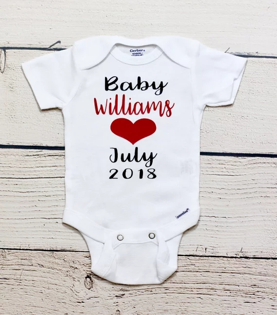 1c6607c2bba30 Customize glitter Pregnancy announcement kids t shirts birthday Maternity  photo shoot baby shower bodysuit onepiece romper