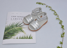 little girls gladiator sandals flat summer sandal children kids shoes open toe silver toddler princess SandQ baby 2019 new hot