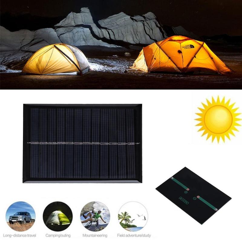 Buy Power Solar Cells 6V 0.6W DIY Solar Panel Mini Polysilicon Solar Epoxy Plate Battery Charger DIY Module Outdoor Camping 90x60mm for $1.60 in AliExpress store