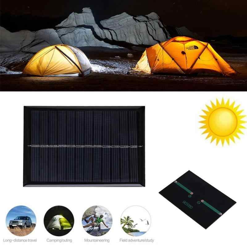 Power Solar Cells 6v 0 6w Diy Solar Panel Mini Polysilicon Solar Epoxy Plate Battery Charger Diy Module Outdoor Camping 90x60mm