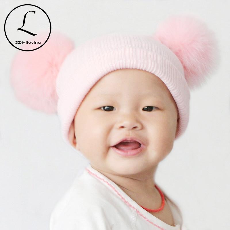2016 Baru Lucu Bayi Perempuan Laki-laki Beanie Cotton Musim Dingin - Aksesori pakaian - Foto 2