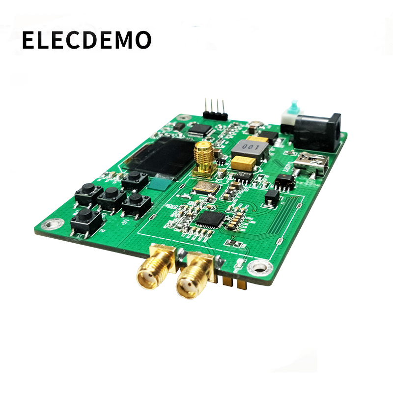 HMC830 phase locked loop PLL module 25M 3G with OLED onboard microcontroller RF signal source serial port-in Demo Board Accessories from Computer & Office
