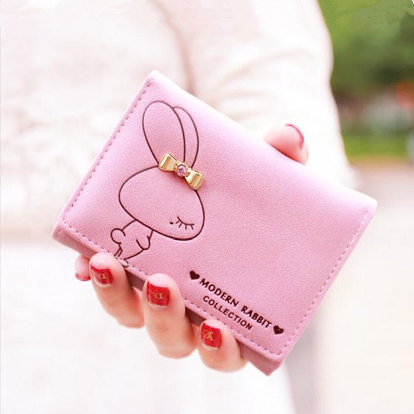 cute rabbit kids wallet for girls womens wallets children pink short money wallet small purse coin bag christmas birthday gifts factory direct wallet cartoon rabbit high quality plush coin purse activity promotional gifts for children girls