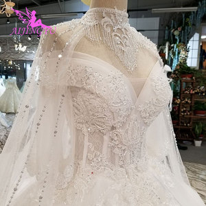 Image 3 - AIJINGYU Vintage Brush Suzhou Gown Vintage Suits For The Bride Simple With Sleeves Indian Gowns Long Sleeve Wedding Dresses