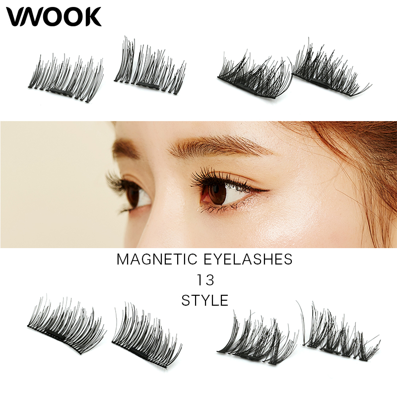 4d silk lashes 0.2mm Magnetic Eyelashes Extension cilios Eye Beauty Makeup Accessories Soft Hair Fake Eyelashes False lashes