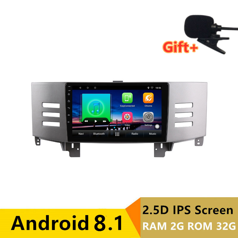 "9"" 2+32G 2.5D IPS Android 8.1 Car DVD Multimedia Player GPS For Toyota Reiz Mark x 2007 2008 2009 audio radio stereo navigation"