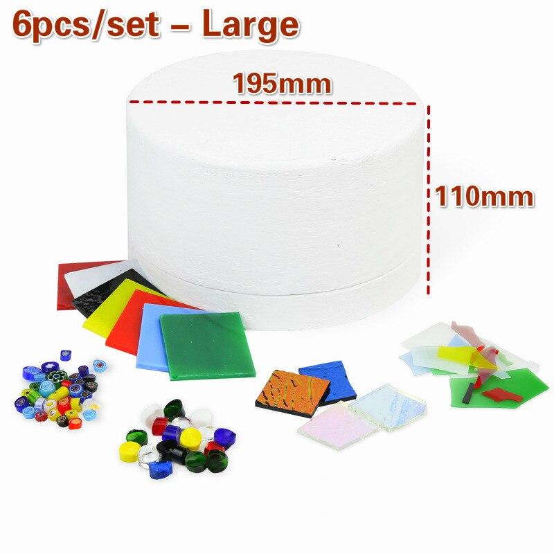 Forno de Microondas Set Profissional Kit Ferramenta Conjunto Vidro Manchado Suprimentos Fusão Faça Você Mesmo Acessórios Cerâmica 1 – 6 10 Pçs
