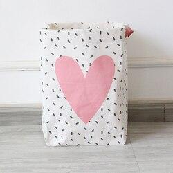New Cute Cotton Linen Storage Basket Desktop Storage Bag Sundries Storage Box Cabinet Children Toys Storage Basket