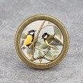Ручки с двумя птицами-выдвижными ящиками  винтажная дверная ручка для шкафа  художественная мебель «сделай сам»  ручки для шкафа  бронзовая ...