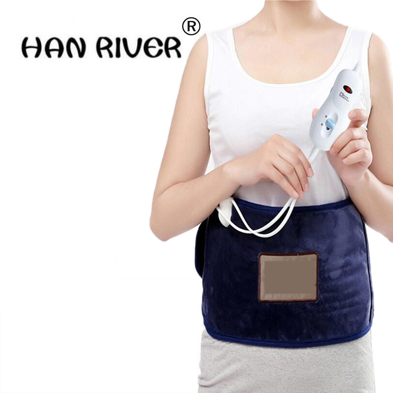 Health Care Therapy Spontaneous Electric Heating Pads Relief Waist and body Abdominal belt Electric hot sea salt heating belt