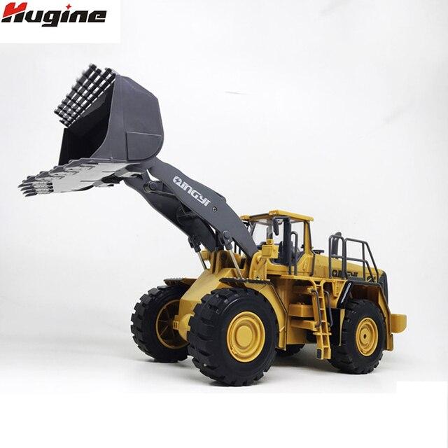 RC Truck Loader Remote Control Bulldozer 6CH 4WD Wheel Loader Konstruksi Logam Insinyur Kendaraan untuk Anak-anak Hobi Mainan Hadiah