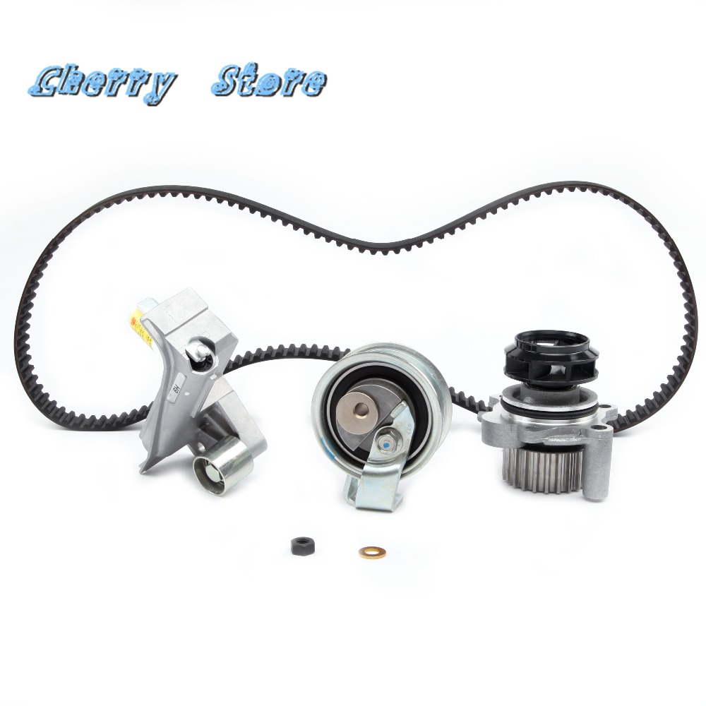 NEW 06B 109 477 A Engine Timing Belt Hydraulic Tensioner Water Pump Kit For Audi A4 A6 VW Passat 1.8L 2.0L 06A121012 530018110
