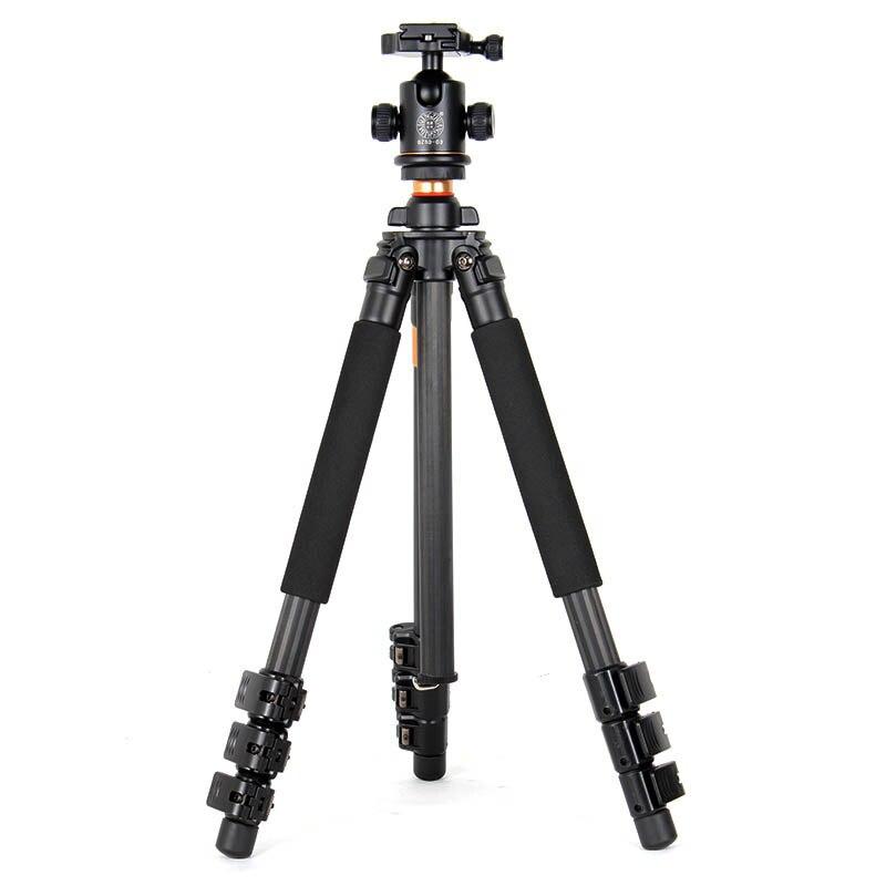 QZSD Q472 trépied professionnel en Fiber de carbone photographique avec tête à bille de 36mm pour appareil photo numérique DSLR/support de trépied d'appareil photo Stable