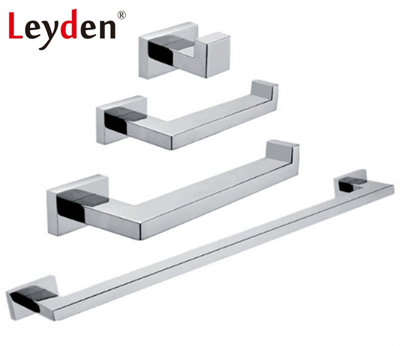 Leyden Bathroom Accessories Stainless Steel Towel Paper Holder Towel Bar Towel Ring Wall Mounted Hook Chrome Bath Bardware Sets leyden high quality stainless steel towel rack bathroom polished chrome towel bar wall mounted towel holder bathroom accessories
