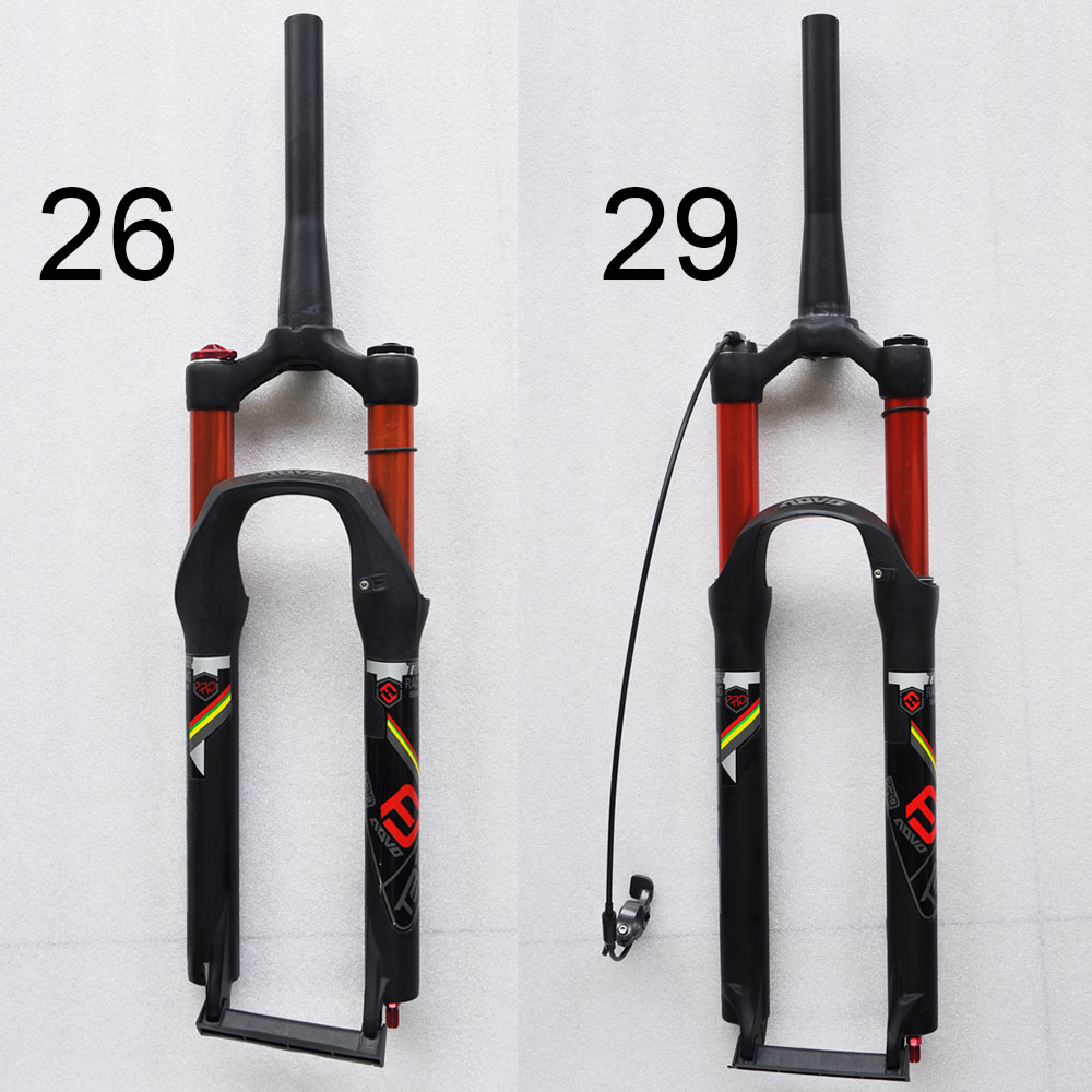 light weight alloy aluminum 26 29 inch air suspension pressure remote tapered manual control mtb bicycle fork