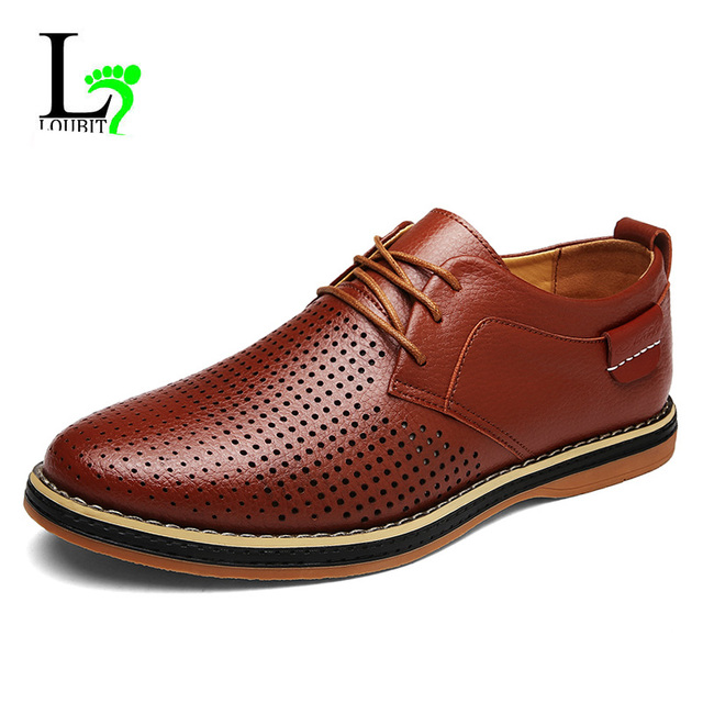 Nouvelle arrivée Mocassins Hommes d'affaires Oxford Chaussures Chaussures de conduite en cuir Chaussures de mode 44pBM8