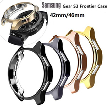 Gear S3 frontier case For samsung Galaxy Watch 46mm 42mm band strap cover soft TPU plated All-Around protective case shell frame protective cover for samsung gear s3 frontier case tpu plated all around protective bumper shell smartwatch r760 cover frame