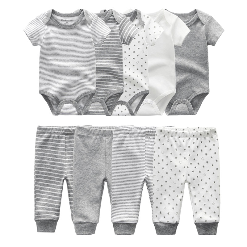 Image 4 - 2019 Solid Bodysuits+Pants Baby Boy Clothes Clothing Sets 0 12M Baby Girl Clothes Unisex Newborn Girls Baby Cotton Roupa de bebe-in Clothing Sets from Mother & Kids
