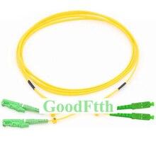 Cables de conexión de fibra E2000/APC SC/APC SM dúplex GoodFtth 1 15m