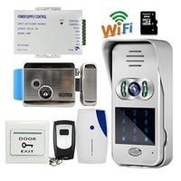 Free Shipping Code Keypad Unlock Wireless Wifi 720P Doorbell Outdoor Video Intercom For Android IOS Phone